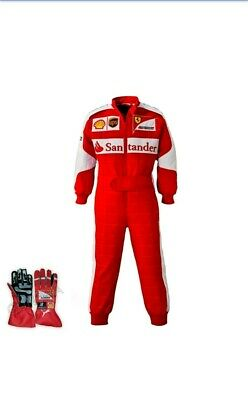 Ferrari Go kart suit race suit printed  karting suit  free gift included