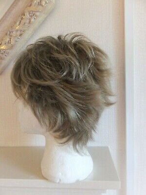 Dimples Feather Premier Collection Short Wispy Full Wig Brown With Blonde Flas