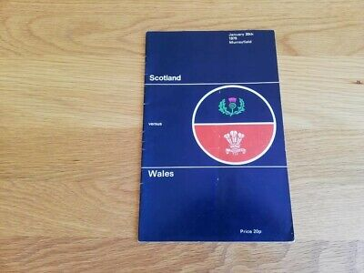 1979-Scotland V Wales-5 Nations-Triple Crown-International Rugby Union Programme