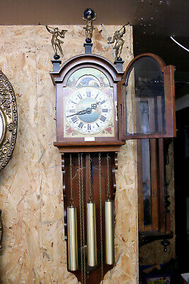 Old Big Dutch Wall Clock Frisian Westminster Zaandam Warmink with Moonphase115cm
