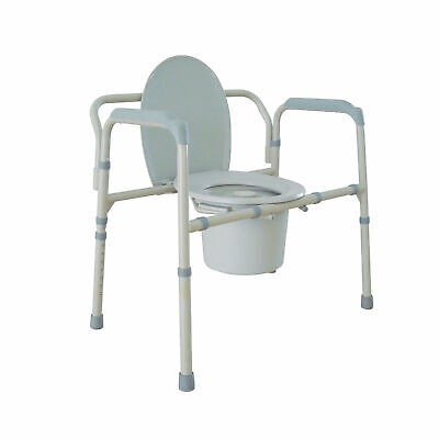 Heavy Duty Bariatric Folding Bedside Commode Chair 11117n-1 (P)