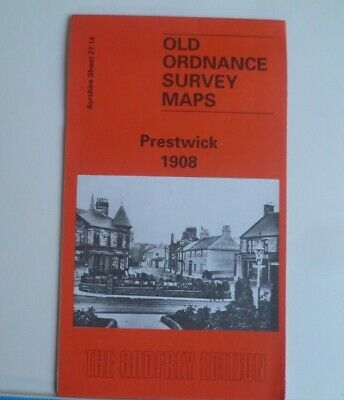 Old Ordnance Survey Map Prestwick 1908 Ayrshire  Godfrey Edition Discount Price