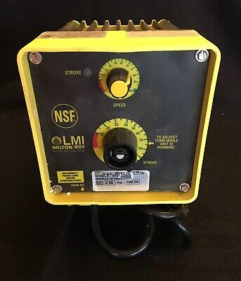 LMI Milton Roy Electromagnetic Dosing Pump P121-85S, new never used, 2.5 GPH