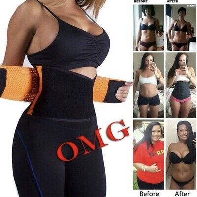 Waist Trainer Body Shapers Xtreme Power Belt Hot Slimming Fajas Sport Trimmer US