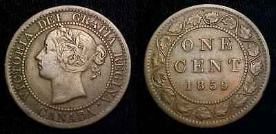 CANADA 1859 Large Cent Low 9 F