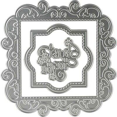 Just For You Frames -Couture Creations Esthetica Cut; Foil & Emboss Nesting Dies