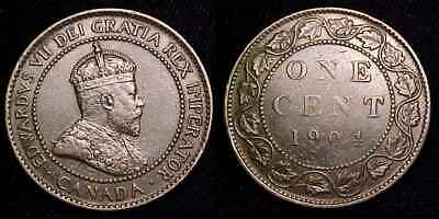 CANADA 1904 Large Cent VF