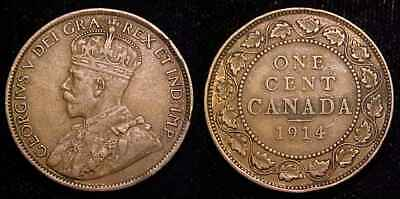 CANADA 1914 Large Cent VF+