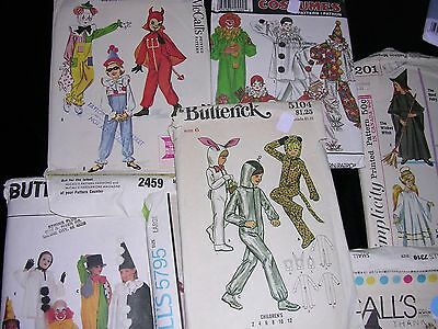 #Z Lot of 13 Vintage Butterick Simplicity McCalls HALLOWEEN COSTUME  Patterns