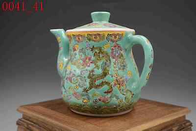 Vintage Chinese Dragon Floral Chinese Porcelain Teapot With Cup