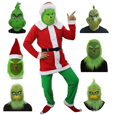 HOT The Grinch Adult Costume Cosplay How the Grinch Stole Christmas Outfits AU