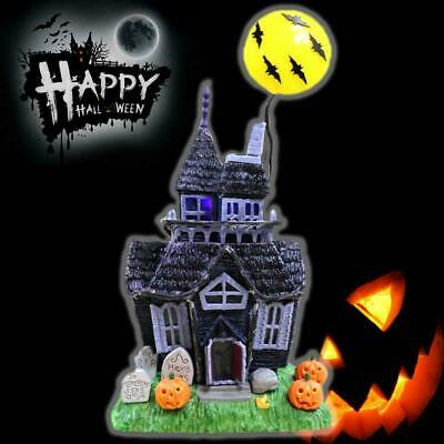 Halloween House Prop Haunted Glittered Table-Top Spooky Sound Light Up Sensor