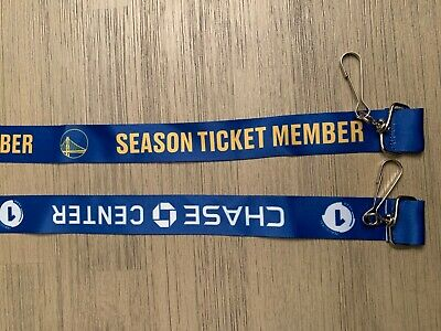 "2019 Golden State Warriors NBA New Chase Center ""Inaugural Year"" Ticket Lanyard"