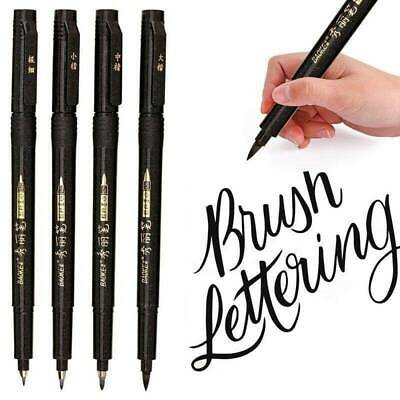 Hand Lettering Pens Calligraphy Pens Brush Markers Set Refillable - 4 Size