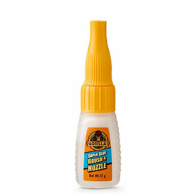 GORILLA GLUE 4044501 SUPER GLUE BRUSH AND NOZLE FOR PRECISE CONTROL 12G x 3pcs