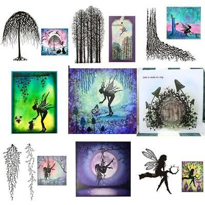 Fairy Tree Silicone Clear Seal Stamp Embossing Scrapbooking Photo Album Decors