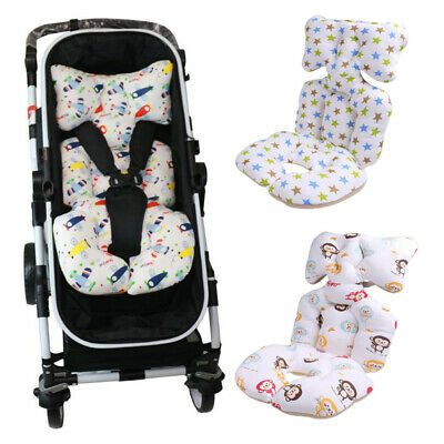Baby Printed Stroller Pad Seat Warm Trolley Cushion Pad mattresses Pillow Cover