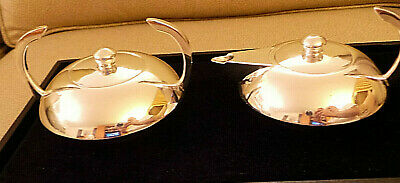 Vintage French Art Deco Silverplate Cream and Sugar from Escapade Paris VG+