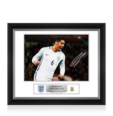 Chris Smalling Official England Signed and Framed Photo Autograph