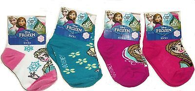 Disney Frozen Elsa Anna Socks Girls White Teal Pink Purple New