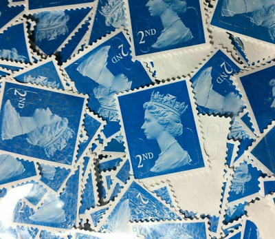 1000 2nd Class Unfranked Blue Security Stamps Off Paper Good Condition