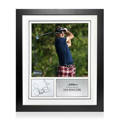 Ian Poulter Signed Card and Photo Frame - Option 2 Autograph