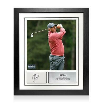 Lee Westwood Signed Card and Photo Frame - Option 1 Autograph