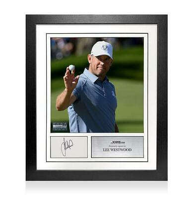 Lee Westwood Signed Card and Photo Frame - Option 2 Autograph