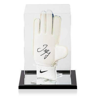 Joe Hart Official England Signed Blue and White Nike Goalkeeper Glove In Acrylic