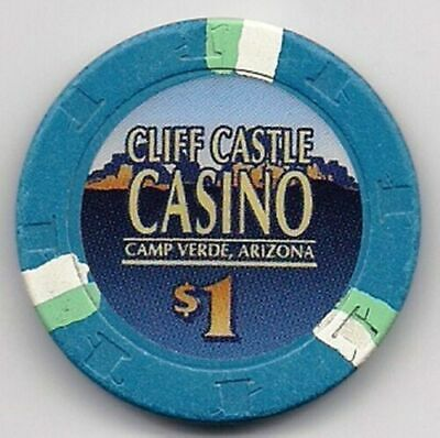 Cliff Castle Casino , Camp Verde, Arizona - $1 Casino Chip- blue