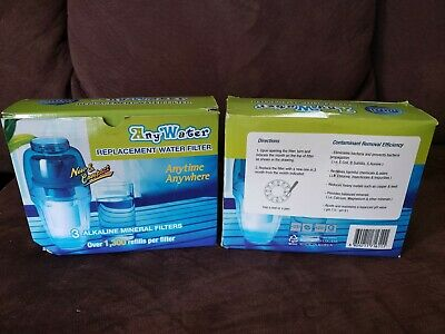 Alkaline Mineral Filters 3 Pack New & Conpact Anytime Anywhere.