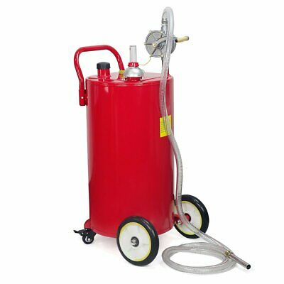 35 Gallon Gas Fuel Diesel Caddy Transfer Portable Jerry Dispense Tank w/ Pump