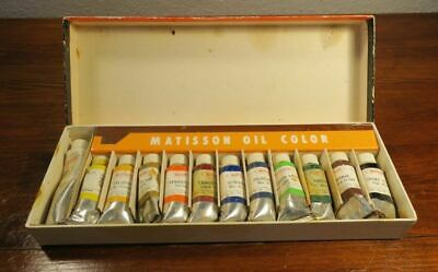 Vintage Box Set Uniprise Matisson Artists' Oil Paints