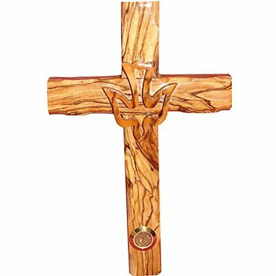 Zuluf Wall Hanging Wood Cross Olivewood Dove Cross Christian Gift Israel 20cm -