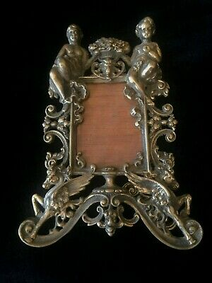 Antique Brass Cherub & Dragon Picture Frame