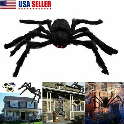 5X Hairy Giant Spider Decoration Halloween Prop Haunted House Party Decor 4FT