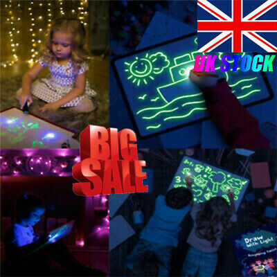 Draw With Light Fun And Developing Toy Drawing Board Magic Draw Educational UK #