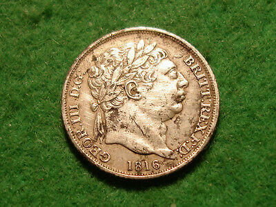1816 George III Sixpence higher collectable grade  FREEPOST (S-112)