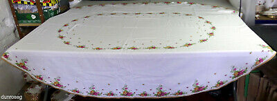 "OLD COUNTRY ROSES TABLECLOTH, 220 x 170cm. 87 x 67"" GOOD CONDITION, ROYAL ALBERT"