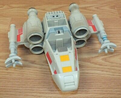 2001 LFL By Hasbro Star Wars X Wing Fighter Ship Collectible Plastic Toy *READ*
