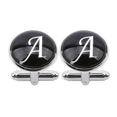 Fashion A-Z Men's Letter Initial Cufflink Alphabet Weeding Engagement Party LC