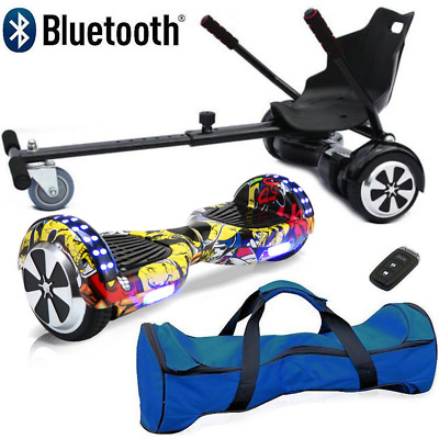 "Bluetooth 6.5"" Swegway Bundle Combo Hover Scooter Board Self Balance Hoverkart"