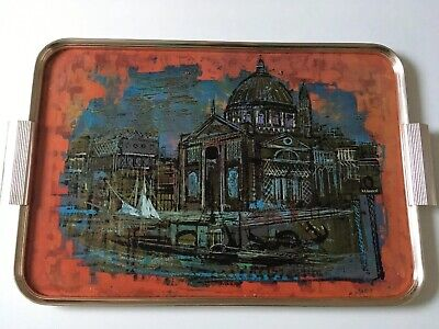 VINTAGE RETRO MID CENTURY WORCESTER WARE LARGE TRAY - Great Venice Print