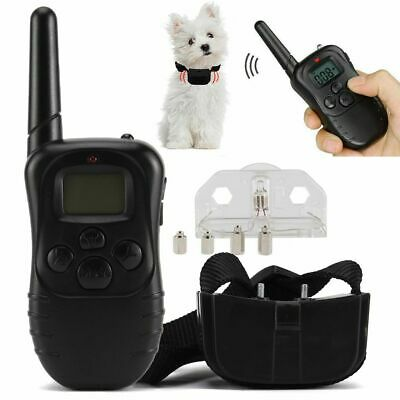Electric Dog Shock Collar With Remote Waterproof Large 328 Yard Pet Training Set