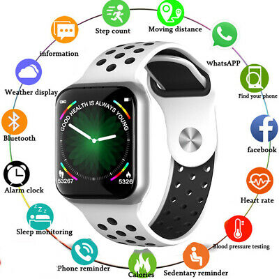 Bluetooth Smart Watch Blood Pressure Heart Rate Fitness Tracker For Android iOS