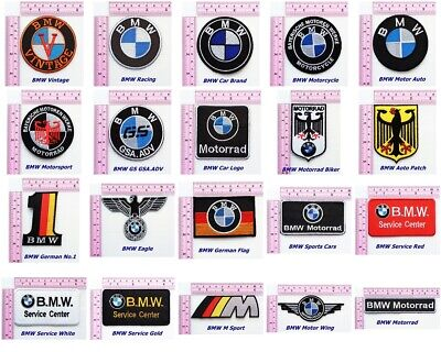 BMW Germany Racing Car Team Iron on Patch Embroidered Racing DIY T-shirt Jacket
