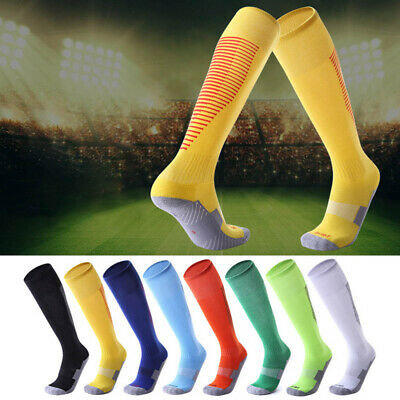 Men Kids Sport Football Soccer Long Socks Baseball Hockey Over Knee High Socks