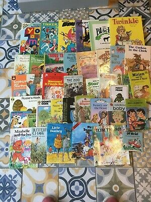 Vintage Retro 40 Childrens Books Hardback & Paperback Joblot