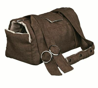 Riley Small Pet Carrier Brown For Small Dogs & Cats Linen Look