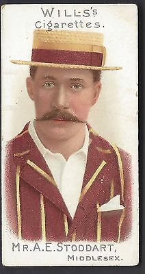 Wills - Cricketers, 1901 (Vignettes) - #1 Mr A E Stoddart, Middlesex